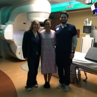 My radiation team and the radiation machine
